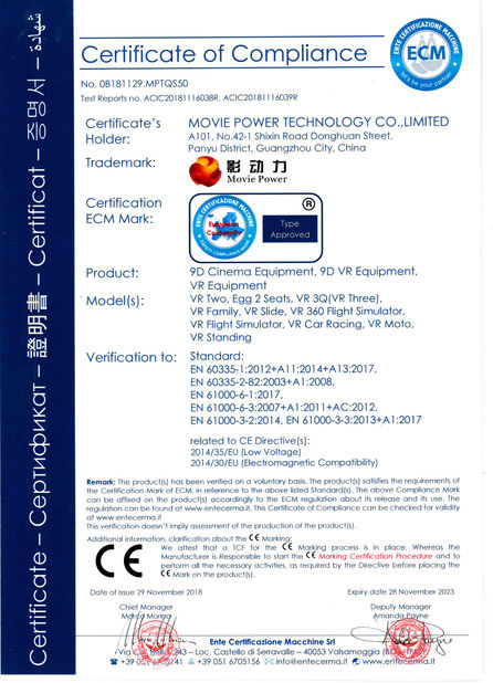 China Guangzhou Movie Power Electronic Technology Co.,Ltd. certificaciones